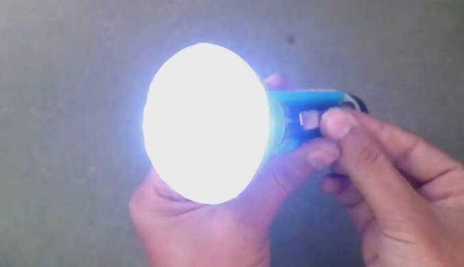 Готовый самодельный фонарик