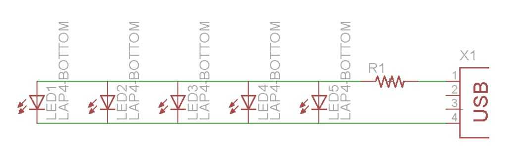 Схема сборки светодиодов на подсветку клавиатуры ноутбука