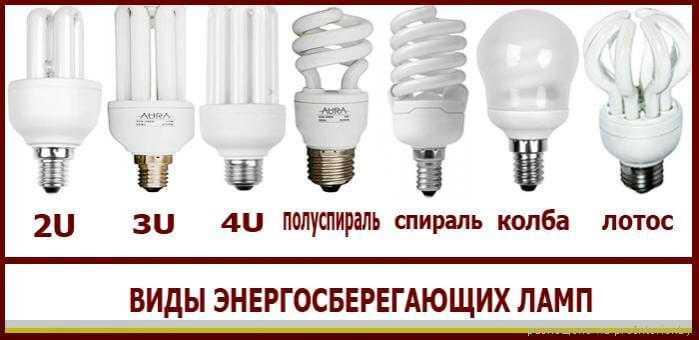 Лампы бывают энергосберегающие
