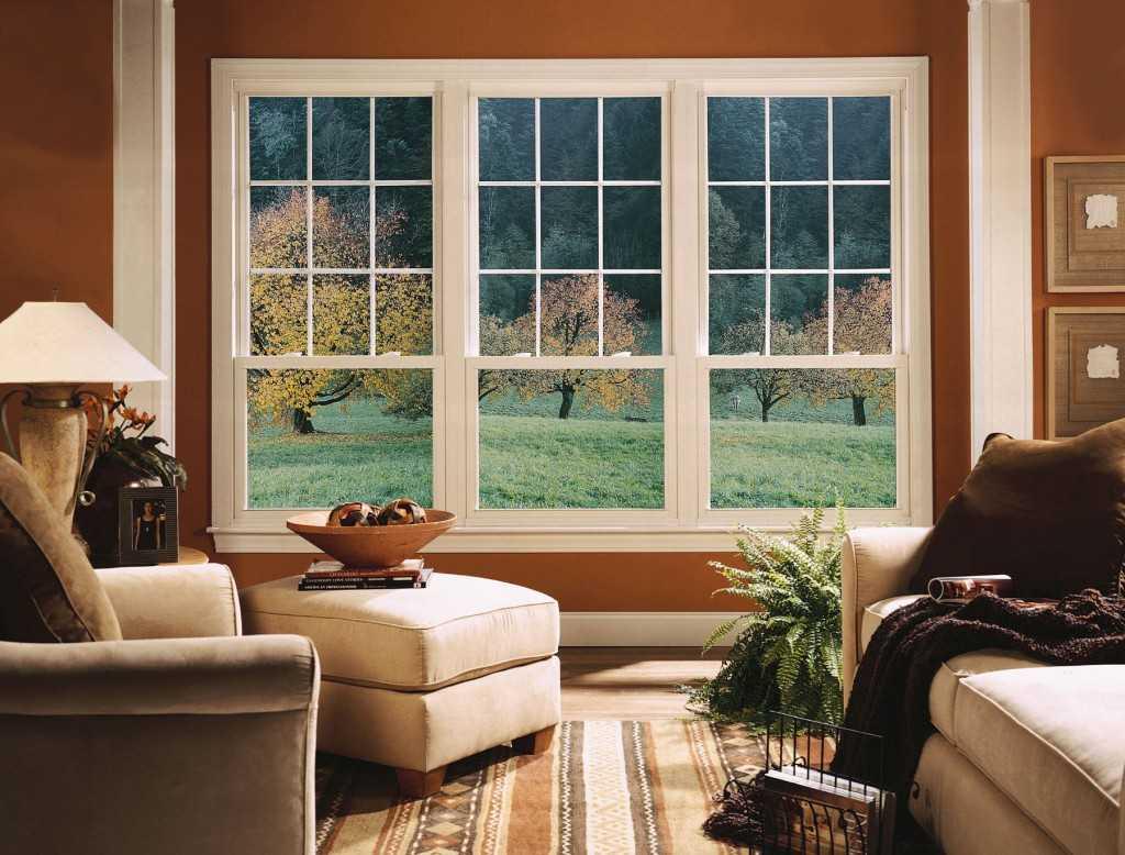 Тройное фальшь окно