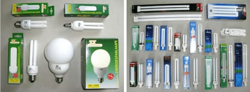 Различия цоколей компактных люминесцентных ламп