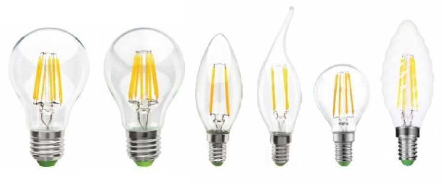 Лампы с филаментными светодиодными элементами