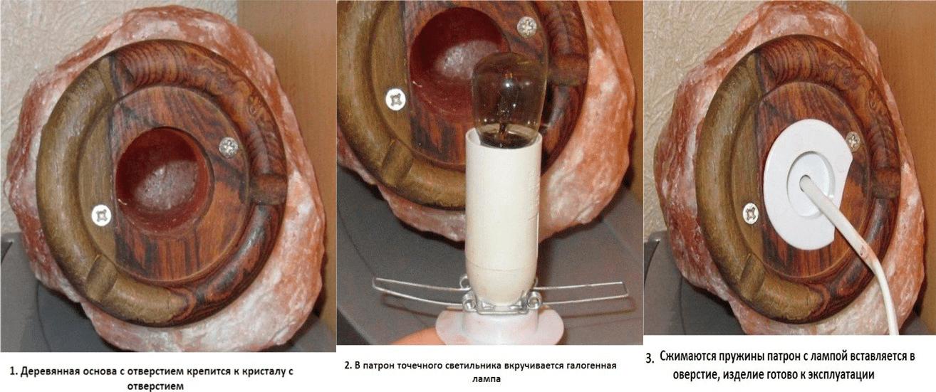 Мастер-класс по изготовлению соляной лампы – просто, быстро и качественно