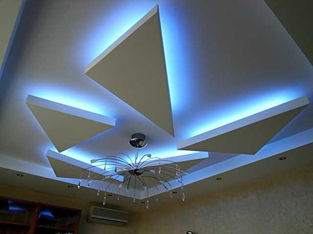 Потолок с элементами скрытой подсветки