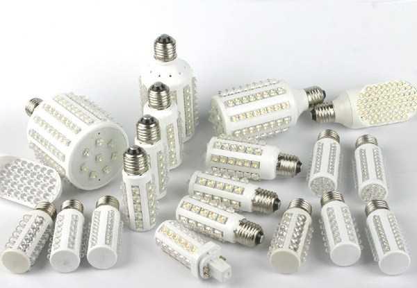 Светодиодные лампы с разными цоколями и количеством диодов