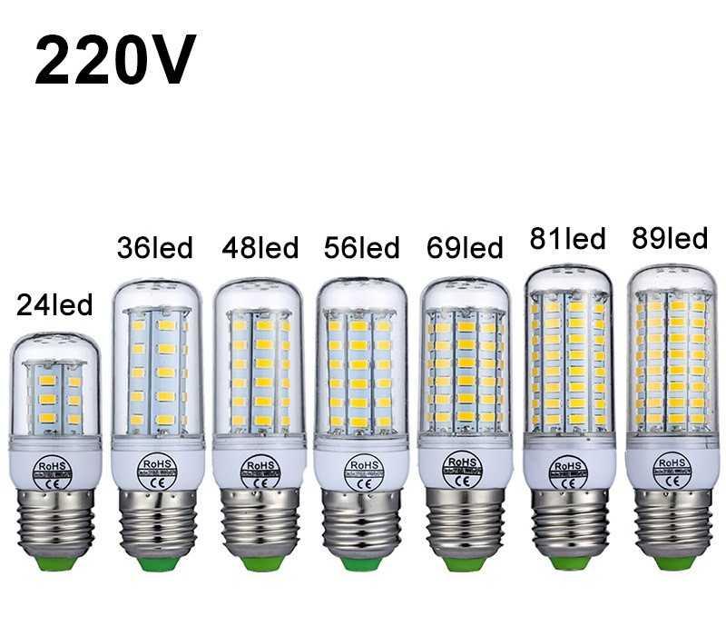 Светодиоды на лампах освещения напряжением 220 В
