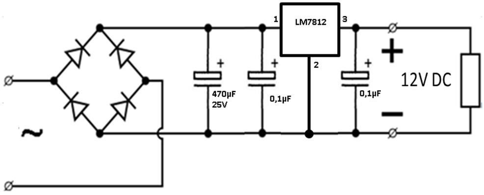 Блок питания со стабилизатором на микросхеме
