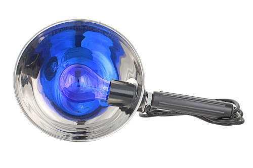Синяя медицинская ламповая колба