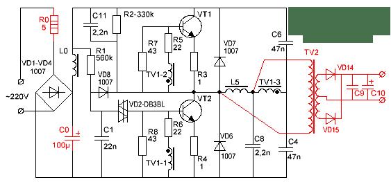 ИБП с дополнительным трансформатором