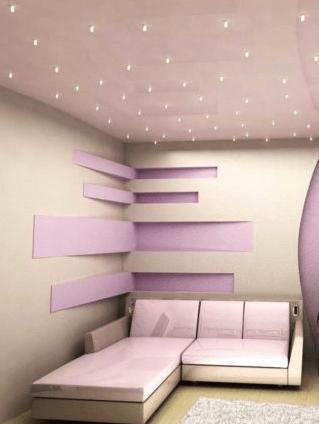 Интерьер с точечными светильниками