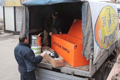 Складирование и перевозка ртутных ламп на утилизацию
