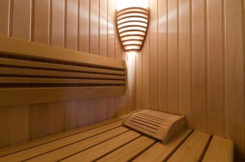 Деревянный светильника баню